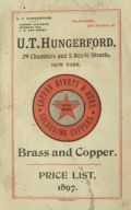 1897 U.T. Hungerford Brass & Copper Catalog & Price List