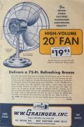 1965 Vintage Grainger Electric Fans Catalog