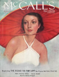 1934 McCall's Magazine Cover ~ Woman with Large Kasa Style Hat