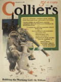 1932 Collier's Magazine Cover ~ Political Elephant & Donkey