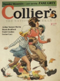 1932 Collier's Magazine Cover ~  Girls Adore the Football Star