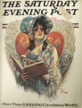 1926 Saturday Evening Post Cover ~ Victorian Valentine