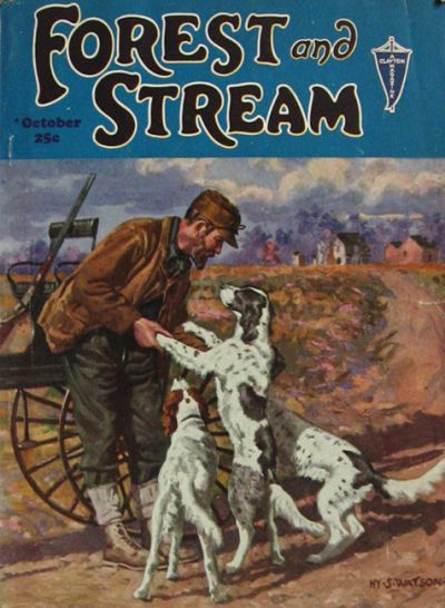 Forest and stream cover july 1918 vintage hunting and for Hunting and fishing magazine