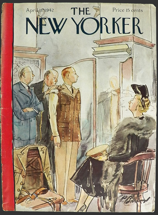 Vintage NEW YORKER Magazine Cover July 30 1955 Kids chasing Fireflies firefly