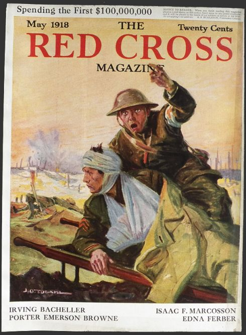 Aids Magazine Cover 1918 Red Cross Magazine Cover