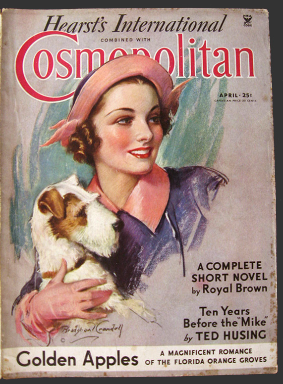 1935 cosmopolitan magazine cover woman w wire fox for Old magazines