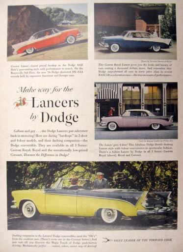 1956 Dodge Lancer Ad ~ Gallant and Gay