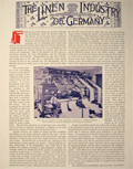 1896 The Linen Industry of Germany ~ Antique Illustrated Article