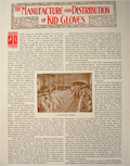 1896 The Manufacture of Kid Gloves ~ Antique Illustrated Magazine Article