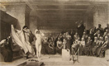 Phryne Before the Tribunal Antique Print ~ Jean-Leon Gerome