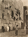 Wailing Wall of Solomon Antique Art Print ~ Gerome