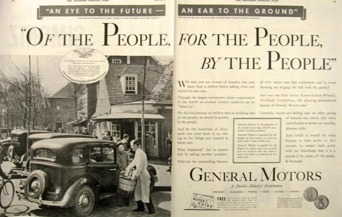 1934 General Motors Ad ~ Williamsburg, VA Photo