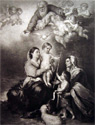 Holy Family ~ Murillo Antique Art Print