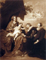 Madonna & Donors ~ Anthony Van Dyck Antique Print