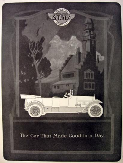 1920 Stutz Automobile Ad