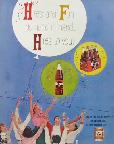 1956 Retro Hires Root Beer Ad ~ Hires and Fun