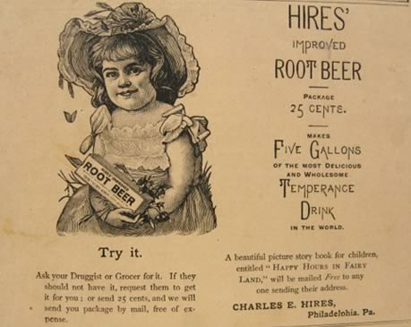 1888 Hires Root Beer Ad ~ Temperance Drink