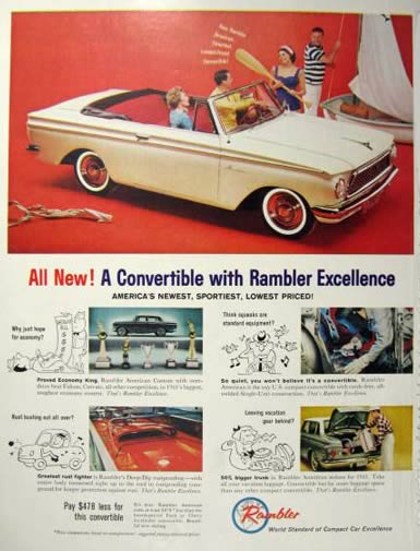1961 Rambler Convertible Car Ad