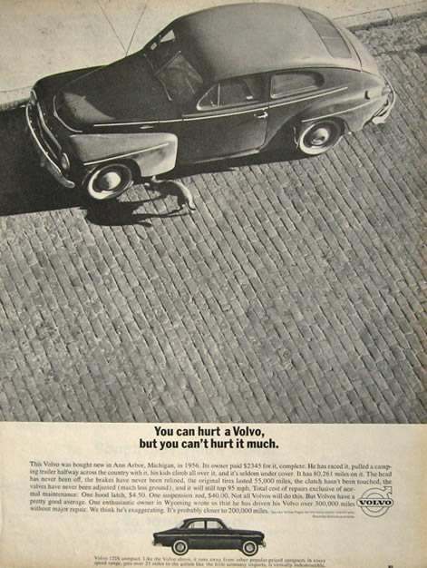 1963 Volvo 122S Compact Ad