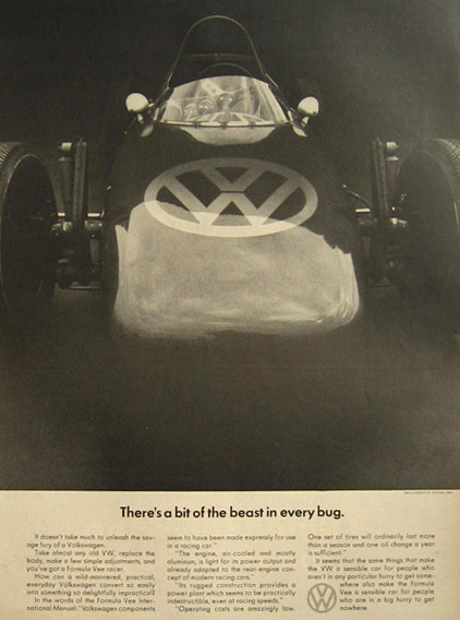 1967 VW Volkswagen Beetle Ad ~ Bit of the Beast