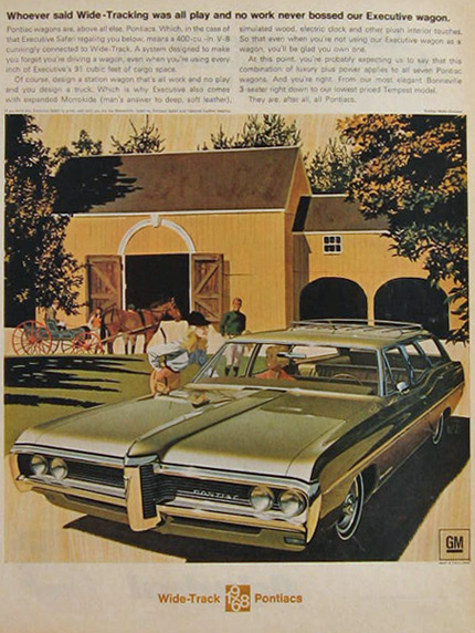 1968 Executive Pontiac Safari Wagon Ad ~ VK/AF Art