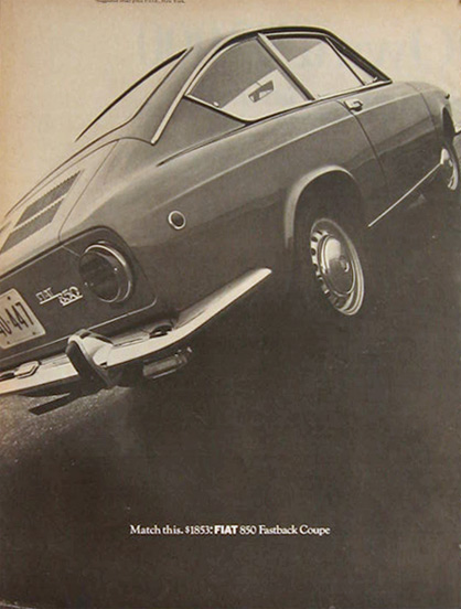 1968 Fiat 850 Fastback Coupe Ad