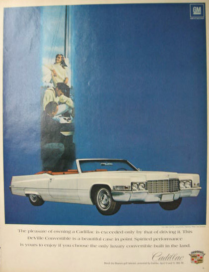 1969 Cadillac DeVille Convertible Ad