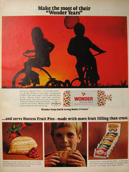 1968 Wonder Bread & Hostess Fruit Pies Ad