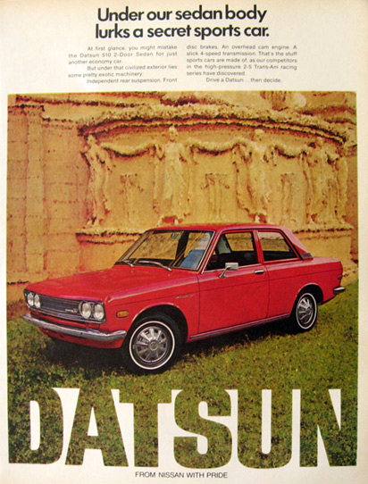 1972 Datsun 510 Sedan Ad ~ A Secret Sports Car