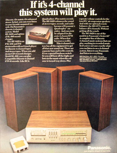 1972 Vintage Panasonic Re 8420 Stereo Receiver Radio Ad