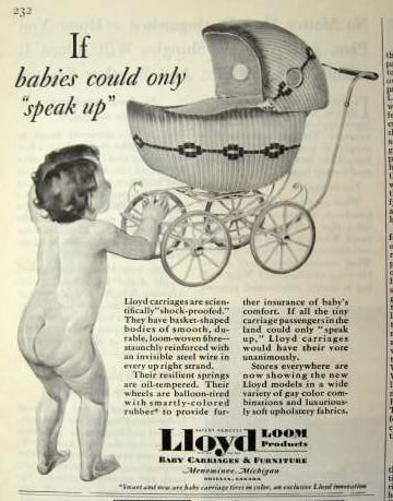 1930 Vintage Lloyd Baby Carriage Ad If Babies Could