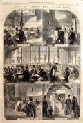 Scenes from the Great London Exposition 1862 Antique Print