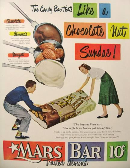 1950 Mars Bar Retro Ad