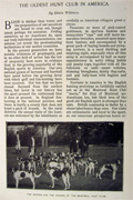 1898 Montreal Hunt Club ~ Article, Photos