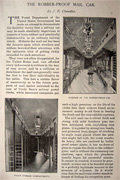 1896 The Robber Proof Mail Car ~ Article, Photos