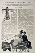 1895 Westchester Country Club Sportswomen, Gymkhana Races Illustrated Article