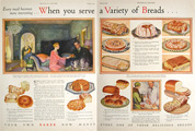 1928 Varieties of Bread Illustrated Article