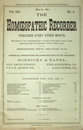 Homeopathic Recorder, May 15, 1892  ~ Rare Original Issue