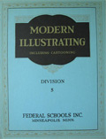 1939 Modern Illustrating & Cartooning Div. 5 Instruction Book ~ Norman Rockwell