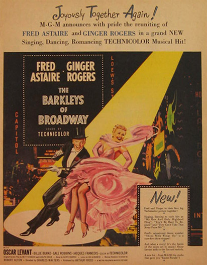 Barkleys of Broadway, Fred Astaire Ginger Rogers 1949 Movie