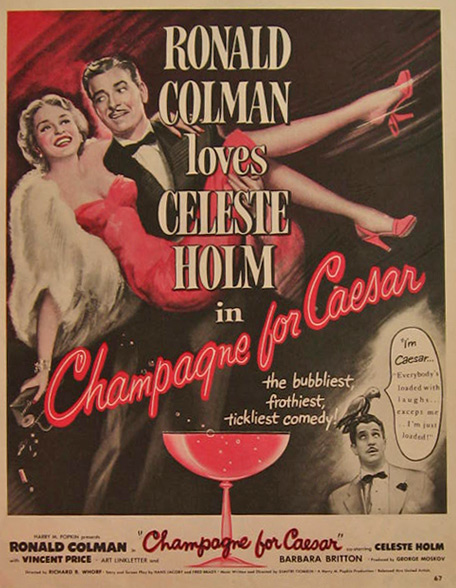 Champagne for Caesar, Celeste Holm 1950 Movie Ad