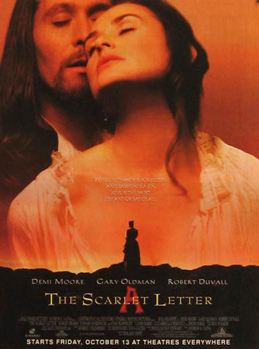 The Scarlet Letter Demi Moore 1995 Vintage Movie Ad