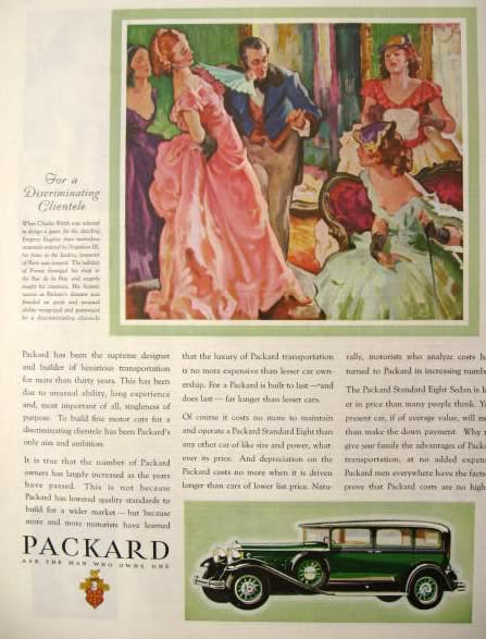 1931 Packard Ad ~ Charles Worth ~ Empress Eugenie