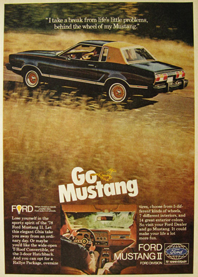 1978 Vintage Ford Mustang II Ad