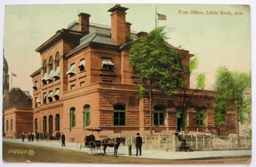 Little Rock AR ~ Post Office Postcard