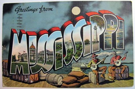 Greetings from mississippi large letter postcard vintage postcards greetings from mississippi large letter postcard m4hsunfo