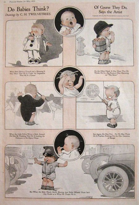 1921 Charles Twelvetrees Print Do Babies Think Antique
