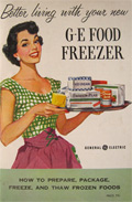 How to Prepare, Freeze, Thaw, Frozen Foods ~ Vintage G.E. Freezer Booklet