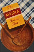 1939 Mazola Salad Bowl Die Cut Recipe Booklet
