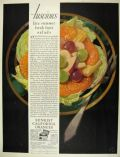 1929 Sunkist Oranges Ad ~ Great Fruit Salad Art